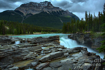 Photograph - Storm Clouds Over Athabasca Falls by Adam Jewell