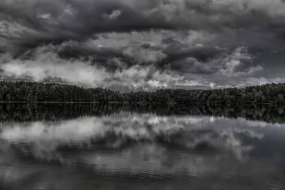 Rhinelander Photograph - Storm Clouds Over Buck Lake by Dale Kauzlaric