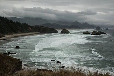 Photograph - Storm Clouds Over Cannon Beach by Tom Cochran