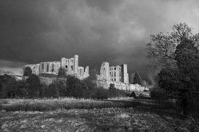 Kenilworth Castle Wall Art - Photograph - Storm Clouds Over Castle Ruin by Colin Bruce