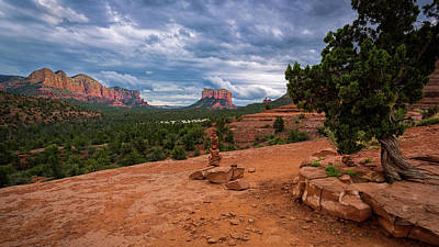 Photograph - Storm Clouds Over Courthouse Butte by Rick Strobaugh