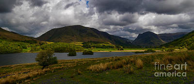 Photograph - Storm Clouds Over Crummock Water by John Collier