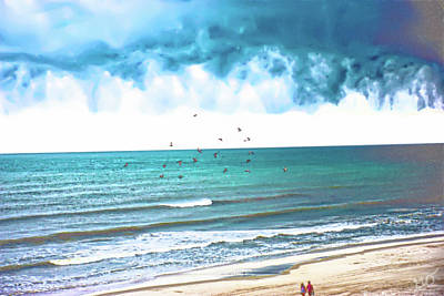Photograph - Storm Clouds Over Daytona Beach by Gina O'Brien