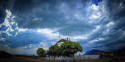 Photograph - Storm Clouds Over Fort Steele by Thomas Nay