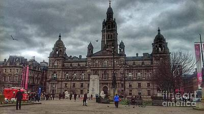 Photograph - Storm Clouds Over George Square by Joan-Violet Stretch