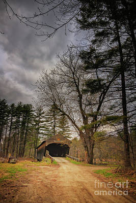 Photograph - Storm Clouds Over Hemlock Covered Bridge by Elizabeth Dow