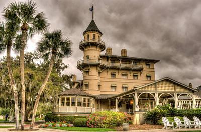 Storm Clouds Over Jekyll Island Club Hotel Art Print
