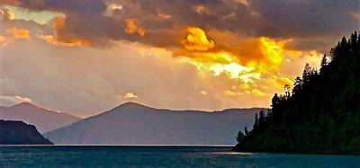 Lake Pend Oreille Photograph - Storm Clouds Over Lake Pend Oreille  by Brent Sisson