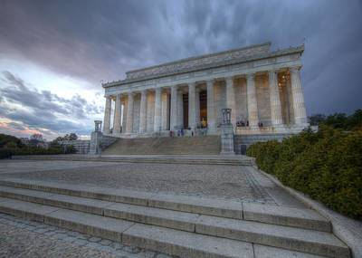 Photograph - Storm Clouds Over Lincoln Memorial Washington Dc by John King