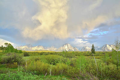Photograph - Storm Clouds Over Mt. Moran In Grand Teton National Park by Ray Mathis