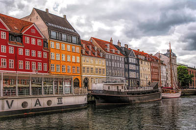 Digital Art - Storm Clouds Over Nyhavn by Mick Burkey