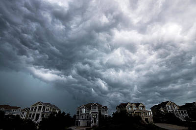 Photograph - Storm Clouds Over Obx by David Stasiak