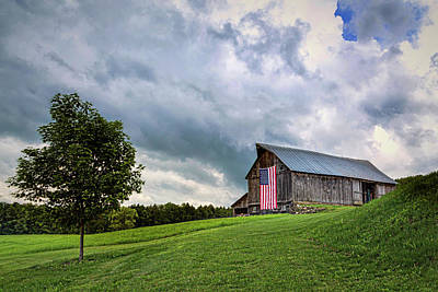 Photograph - Storm Clouds Over Old Glory by John Vose