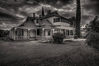 Storm Clouds Over Old House Art Print