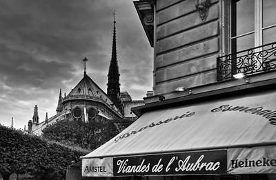 Photograph - Storm Clouds Over Paris by Mick Burkey