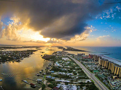 Photograph - Storm Clouds Over Perdido Pass And Cotton Bayou by Michael Thomas