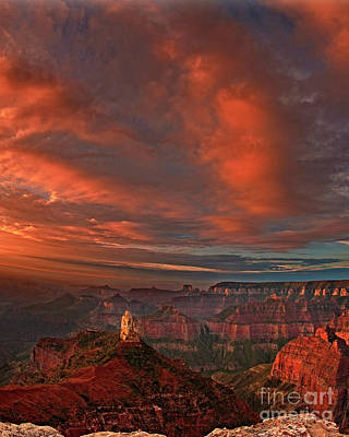 Photograph - Storm Clouds Over Point Imperial Grand Canyon National Park Arizona by Dave Welling