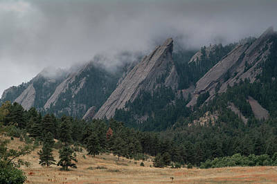 Photograph - Storm Clouds Over The Flatirons by Alan Bland