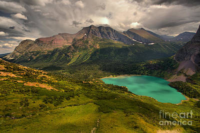 Photograph - Storm Clouds Over The Grinnell Valley by Adam Jewell