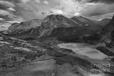 Photograph - Storm Clouds Over The Grinnell Valley Black And White by Adam Jewell