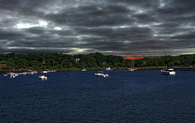 Photograph - Storm Clouds Over The Harbor by Anthony Dezenzio