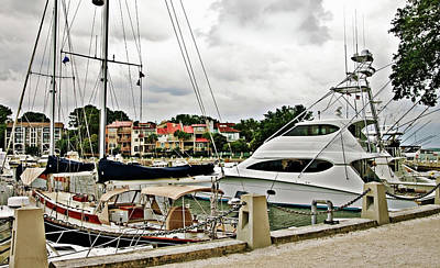 Photograph - Storm Clouds Over The Harbor by Susan Leggett