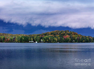 Double Layer Photograph - Storm Clouds Over The Lake Of Bays by Oleksiy Maksymenko