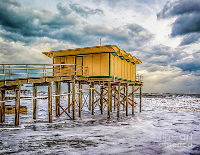 Art Print featuring the photograph Storm Clouds Over The Ocean by Nick Zelinsky