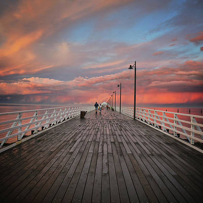 Photograph - Storm Clouds Over The Pier by Keiran Lusk