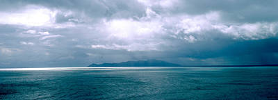 Storm Clouds Over The Sea, New Zealand Art Print