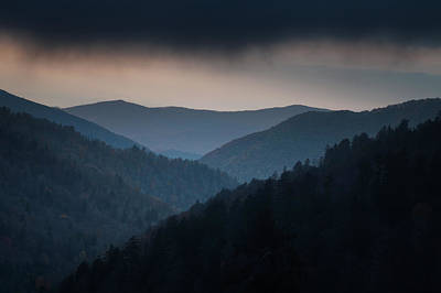 Stormy Photograph - Storm Clouds Over The Smokies by Andrew Soundarajan