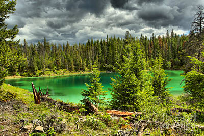 Photograph - Storm Clouds Over The Valley Of Five Lakes by Adam Jewell
