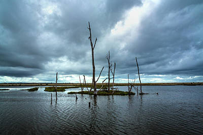Photograph - Storm Clouds Over The Water by Rick Strobaugh