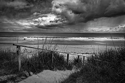 Photograph - Storm Clouds Shadwick Bay by Alex Saunders