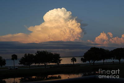 Photograph - Summer Storm Clouds Tampa Bay In Florida by Cheryl Poland