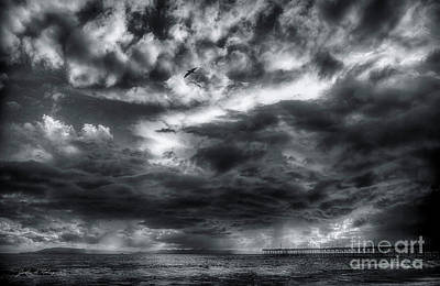 Ventura California Photograph - Storm Clouds Ventura Ca Pier by John A Rodriguez