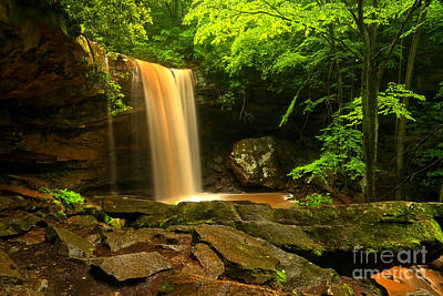 Photograph - Storm Colors Of Cucumber Falls by Adam Jewell