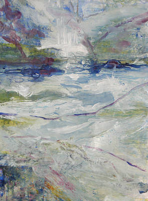 Art Print featuring the painting Storm Currents by John Fish