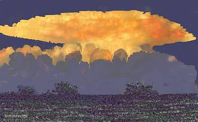 Digital Art - Storm East Of Victoria by Kerry Beverly