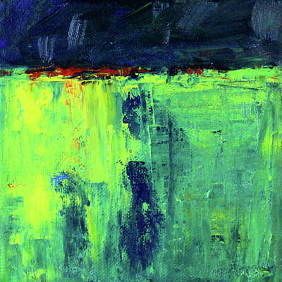 Painting - Storm Field Abstract by Nancy Merkle