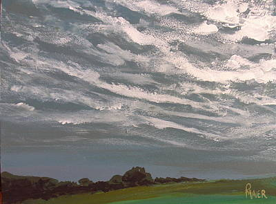 Storm Clouds Painting - Storm Front by Pete Maier