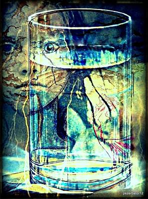 Storm In A Glass Of Water Art Print by Paulo Zerbato
