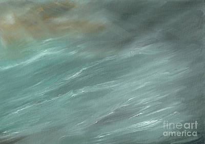 Spray Painting - Storm In Deep Ocean by Vincent Alexander Booth