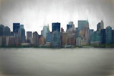 Digital Art - Storm In The City by OLena Art Brand