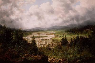 Storm Painting - Storm In The Tennessee Valley by MotionAge Designs