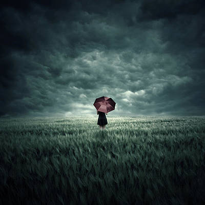 Field Digital Art - Storm Is Coming by Zoltan Toth
