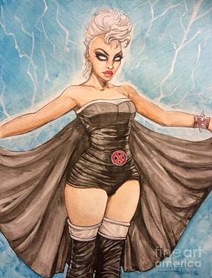Xmen Painting - Storm by Jimmy Adams