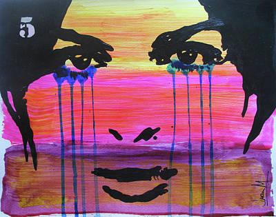 Woman Painting - Storm by Juan Mildenberger