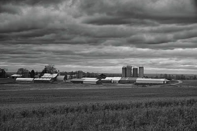 Photograph - Storm Moves In On A Farm by Raymond Salani III