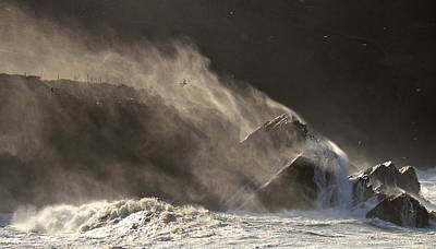 Photograph - Storm On Clogher Beach by Barbara Walsh